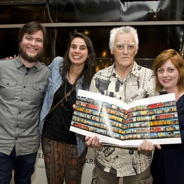 com Paulo André Chagas, Aline Valli e Gabriela Castro