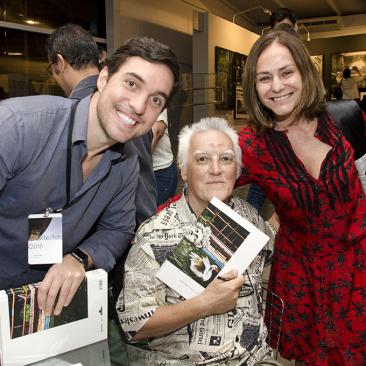 com Felipe Hegg e Claudia Jaguaribe